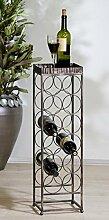 Casa Padrino Designer Weinregal aus Metall für 12