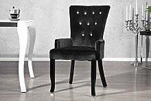 Casa Padrino Esszimmer Stuhl mit Armlehnen und