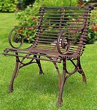 Casa Padrino Gartenstuhl aus Schmiedeeisen -