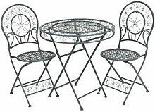 Casa Padrino Jugendstil Gartenmöbel Set Tisch mit