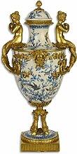 Casa Padrino Jugendstil Vase mit Deckel