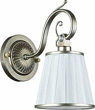 Casa Padrino Jugendstil Wandlampe Silbergold/Weiß