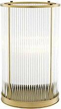 Casa Padrino Kerzenleuchter Antik Messing 23 x H. 37,5 cm - Luxus Wohnzimmer Accessoires
