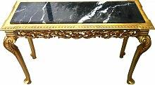 Casa Padrino Konsolentisch Gold mit Marmorplatte