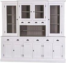 Casa Padrino Landhausstil Küchenschrank Weiß /
