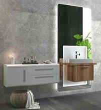 Casa Padrino Luxus Badezimmer Set Braun / Weiß -