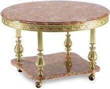 Casa Padrino Luxus Barock Couchtisch Pink / Gold