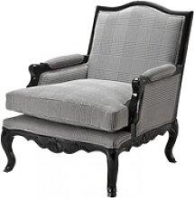 Casa Padrino Luxus Barock Lounge Sessel Schwarz /