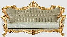 Casa Padrino Luxus Barock Sofa Grün/Gold 250 x