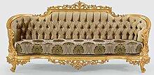 Casa Padrino Luxus Barock Sofa Grün/Grau/Gold 235