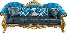 Casa Padrino Luxus Barock Sofa Türkismuster/Gold