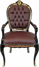 Casa Padrino Luxus Barock Stuhl mit Armlehnen