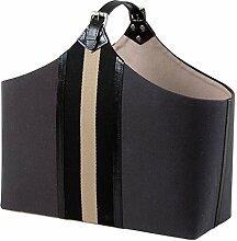 Casa Padrino Luxus Büffelleder Tasche/Korb -