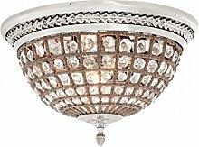 Casa Padrino Luxus Deckenleuchte Nickel