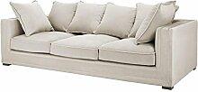Casa Padrino Luxus Designer 3er Sofa Grau - Luxus
