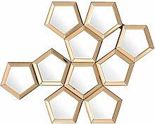 Casa Padrino Luxus Designer Wandspiegel Gold B 101 x H 87 cm - Luxury Hotel Collection