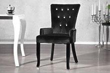 Casa Padrino Luxus Esszimmer Stuhl mit Armlehnen