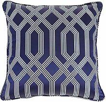 Casa Padrino Luxus Kissen blau mit Muster 60 x 60