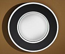Casa Padrino Luxus Konvex Spiegel Schwarz Ø 41 cm