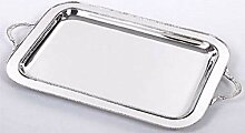 Casa Padrino Luxus Messing Serviertablett Silber