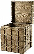 Casa Padrino Luxus Schrank Truhe Holz Eiche - Art Deco Barock Jugendstil Truhenschrank