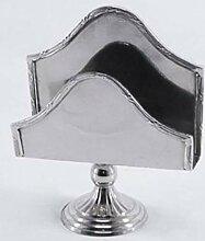 Casa Padrino Luxus Serviettenhalter Silber 13 x 5