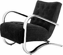 Casa Padrino Luxus Sessel Schwarz 64 x 82 x H. 75 cm - Designer Möbel