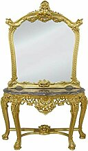 Casa Padrino Luxus Spiegelkonsole mit Marmorplatte