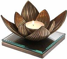 Casa Padrino Luxus Teelichthalter Lotusblume