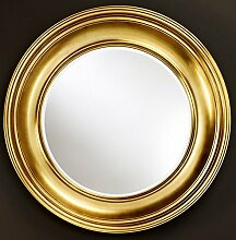 Casa Padrino Luxus Wohnzimmer Spiegel Gold Ø 102 cm - Wohnzimmer Wandspiegel