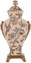 Casa Padrino Porzellan Vase mit Deckel 22,8 x 13,8