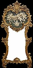 Casa Padrino Rokoko Wandspiegel Gold B 71 x H 153