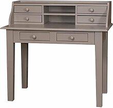 Casa Padrino Schreibtisch mit 6 Schubladen 109 x 60 x H. 102 cm - Möbel im Landhausstil, Farbe:grau