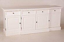 Casa Padrino Shabby Chic Landhaus Stil Sideboard Dielen Schrank Weiß B 216 H 90 cm Möbel Diele Esszimmer