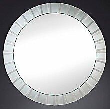 Casa Padrino Spiegel / Wandspiegel Ø 100 cm - Luxus Wohnzimmer Accessoires