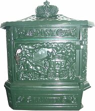 Casa Padrino Wandbriefkasten Antik Jugendstil Grün Briefkasten Postkasten Mod1