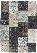 Casa Padrino Wohnzimmer Teppich Silber/Mehrfarbig