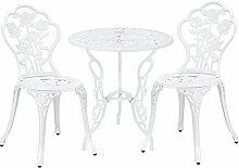 [casa.pro]®] Gartentisch Bistro-Tisch 60cm Rund