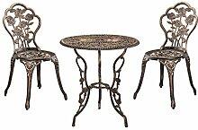 [casa.pro]® Gartentisch/Bistro-Tisch 60cm, rund,