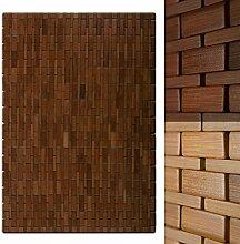 casa pura® Bambusmatte Mia | Badematte & Saunamatte aus Bambus | 60x90cm | zwei Farben (Honigfarben)