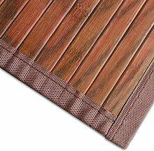 casa pura Bambusteppich Magenta (Braun) | für Bad