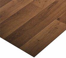 casa pura® CV Bodenbelag Bartek Oak | Eiche dunkel | edle Holzoptik | Oberfläche strukturiert | Meterware (200x900cm)