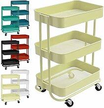 casa pura Design Allzweckwagen mit 3 Etagen -
