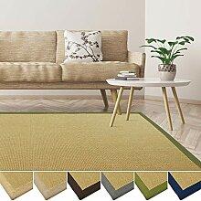 casa pura Sisal Teppich aus Naturfasern | mit