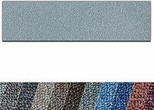 casa pura Teppich Läufer London   Meterware   Teppichläufer für Wohnzimmer, Flur, Küche usw.   flacher Schlingenflor   mit Stufenmatten kombinierbar (Hellgrau - 300x800 cm)