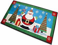 casa pura Weihnachtsmatte | Weihnachtsmann im