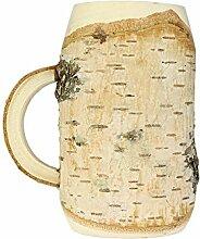 Casa Vivente Bierkrug aus Holz – Krug – Standard – Originelle Geschenk-Idee für Männer – Männergeschenk – Geburtstagsgeschenk für Papa, Opa, Freund – Rustikale Deko – Füllmenge: 0,5 l