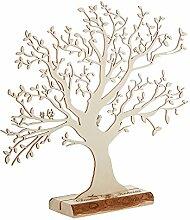 Casa Vivente Geldbaum aus Holz mit Gravur, Motiv