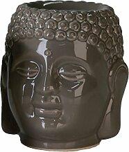 Casablanca Aromabrenner Buddha Keramik grau
