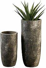 Casablanca - Bodenvase Guam Keramik grau/braun